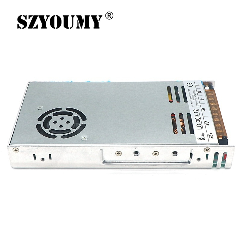 SZYOUMY interruptor Ultra delgado fuente de alimentación de CA 220V a cc 12V 30A transformador de voltaje interior para Control del Motor Led pantalla de interruptor Led