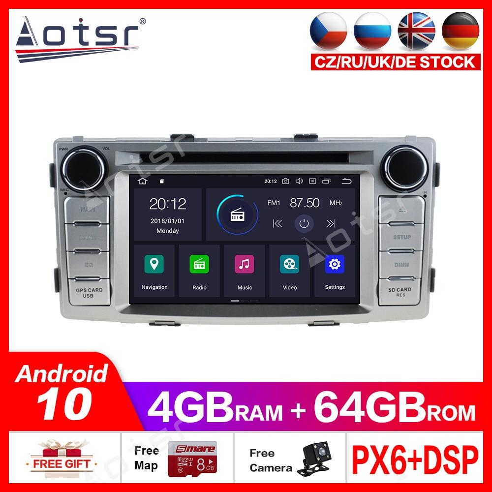 Android10.0 4G + 64GB lecteur DVD de voiture GPS voiture Radio multimédia pour Toyota HILUX 2012 - 2015 lecteur de voiture GPS Navigation DSP intégré