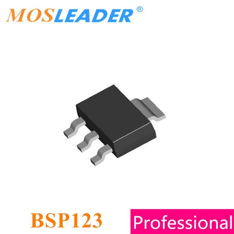 Mosleader BSP123 SOT223 100 قطعة 1000 قطعة N-قناة 100 فولت 0.37A صنع في الصين عالية الجودة Mosfets