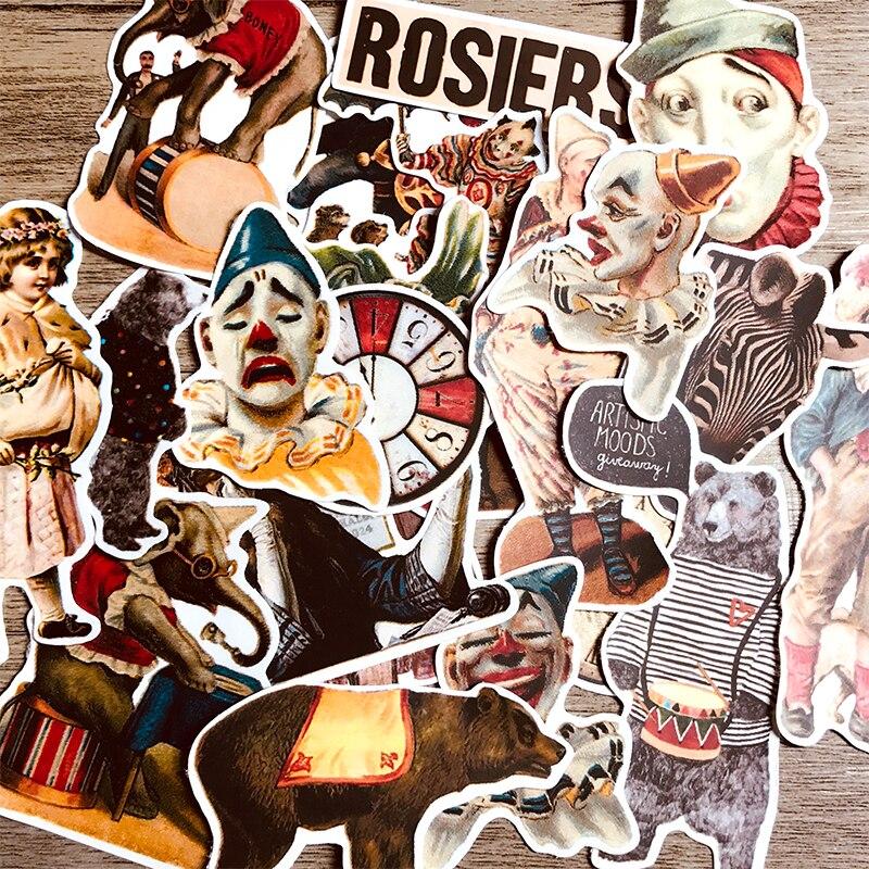 23 Uds. Pegatinas de personajes de estilo europeo y americano manos de payaso de circo material de cuenta DIY álbum diario ins pegatinas hobo tn