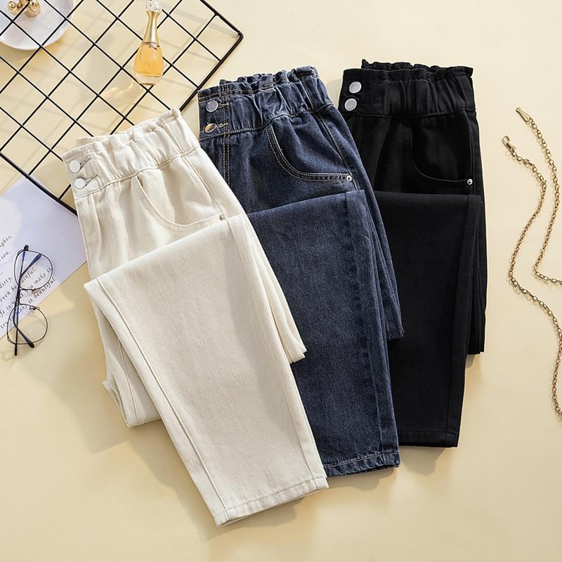 Джинсы женские модные весенне-летние джинсы женские шаровары в Корейском стиле с высокой талией модные джинсы женские брюки