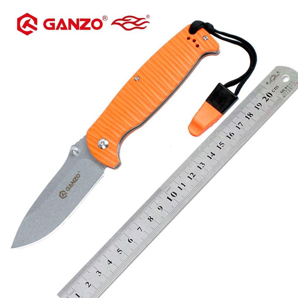 58-60hrc ganzo g7412p firebird 440c lâmina g10 lidar com faca dobrável sobrevivência ferramenta de acampamento bolso faca tático edc ferramenta ao ar livre
