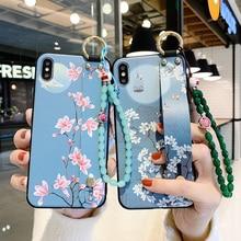 Perles suspendues Dragonne Pour Samsung Galaxy A70 A71 A50 A50S A51 A60 A40 A30 A30S A20 A10 A7 2018 Housse de protection en TPU Support Coq