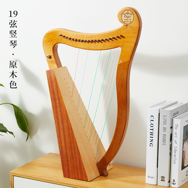 Celtic Music Kit Instrument Harp Holy Lyre Small Lyra Vgreek Wood Solid Mahogany Frends Jews Notes Muzik Aleti HX50SQ enlarge