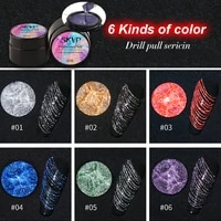 skvp glitter spider nail gel 6pcsset creative wire drawing gel varnish point to line pulling silk painting uv gel nail art kit
