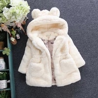 girls autumn and winter fur coat plush and thickened 2020 new korean cross border foreign trade rabbit ear hair sweater