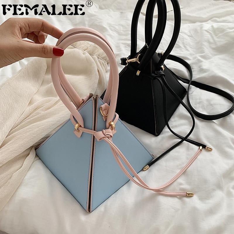 2020 Designer leather handbag Mini Triangle Women Clutch Purse Hand Bag Lady Famous Brand Chains Tote Bags portefeuille femme