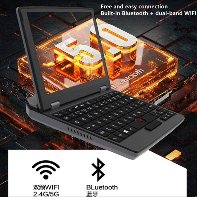 Latest Pocket Slim Laptop Ultrabook 7-X133 Intel j3455 CPU 8GB+512GB 7 Inch Mini PC Computer Netbook Notebook Touch Screen Win10 10