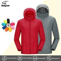 LNGXO походная водонепроницаемая куртка для женщин и мужчин, для кемпинга, бега, Солнцезащитная ветровка, быстросохнущая, для спорта на открыт...