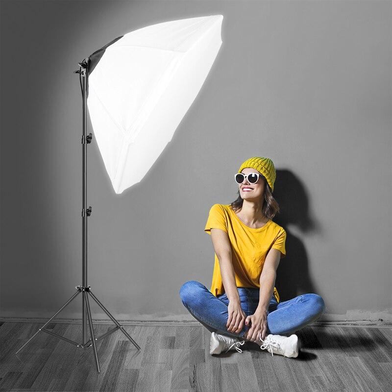 SH Octagon Umbrella Softbox Kits With LED Bulb Tripod and Bag Profession Photo Studio Lighting Kit for Photography Studio Strobe enlarge