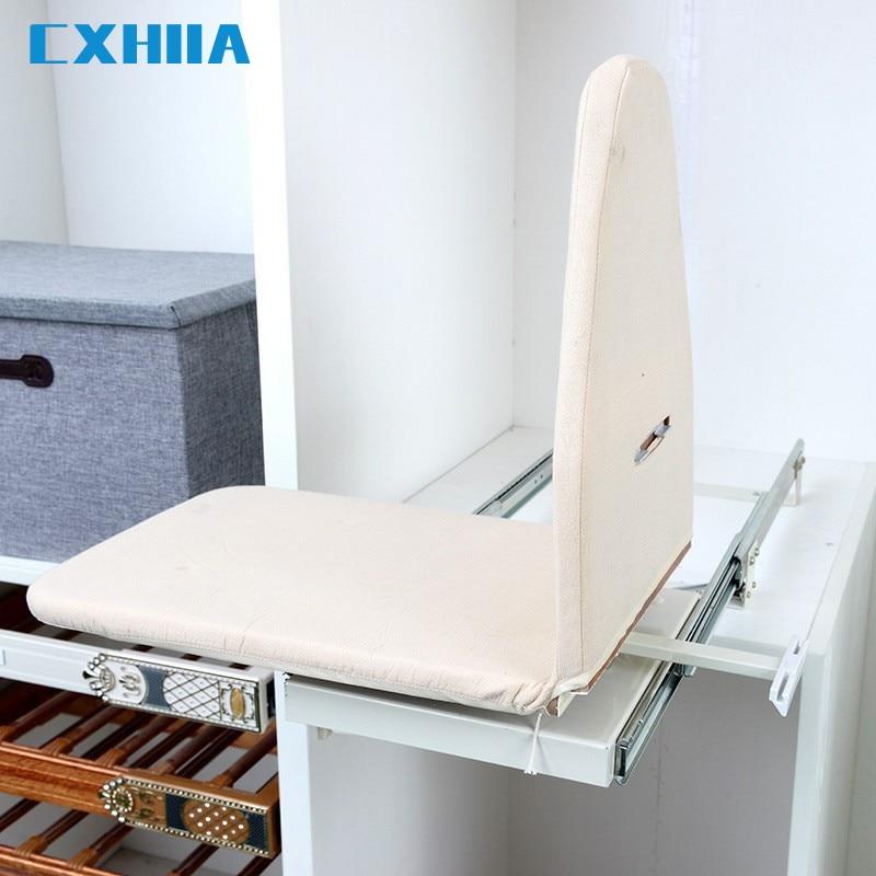 AliExpress - CXHIIA Ironing Board Rack Household Cloakroom Damping Wardrobe Cabinet Folding Drawer Telescopic Hidden