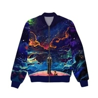 new fashion graphic spring autumn winter hip hop casual brand 3d print trend abstraction thin jacket polyester v12