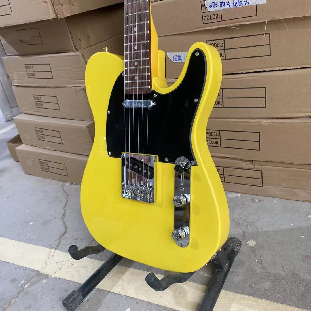 Tele Electric Guitar Bee Yellow Color Rosewood Fingerboard Chrome Hardware High Quality Guitarar Free Shipping enlarge