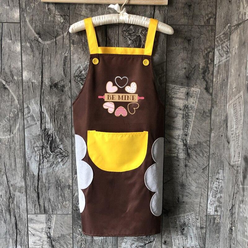 Wasserdicht Küche Schürze Niedliche Bib Schürze mit Tasche Seitige Handtücher für Frauen Mädchen Waschen Gerichte Kochen Backen logo druck
