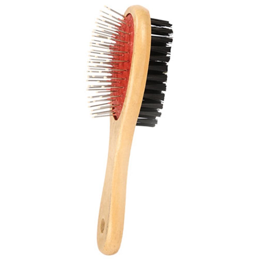 Escova macia do animal de estimação do pente do animal de estimação da remoção de madeira do cabelo dos cães dos gatos