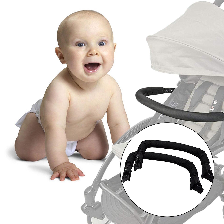 Reposabrazos Universal de cochecito de bebé, manillar de barra transversal, barra de parachoques para Babyzen YOYO + YOYA VOVO Babysing Hiwide YUYU