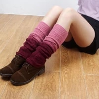 cashmere feeling 43cm length calf warm guard belly dance aircontidionter leg warmers gradient bright colors newly fashion women