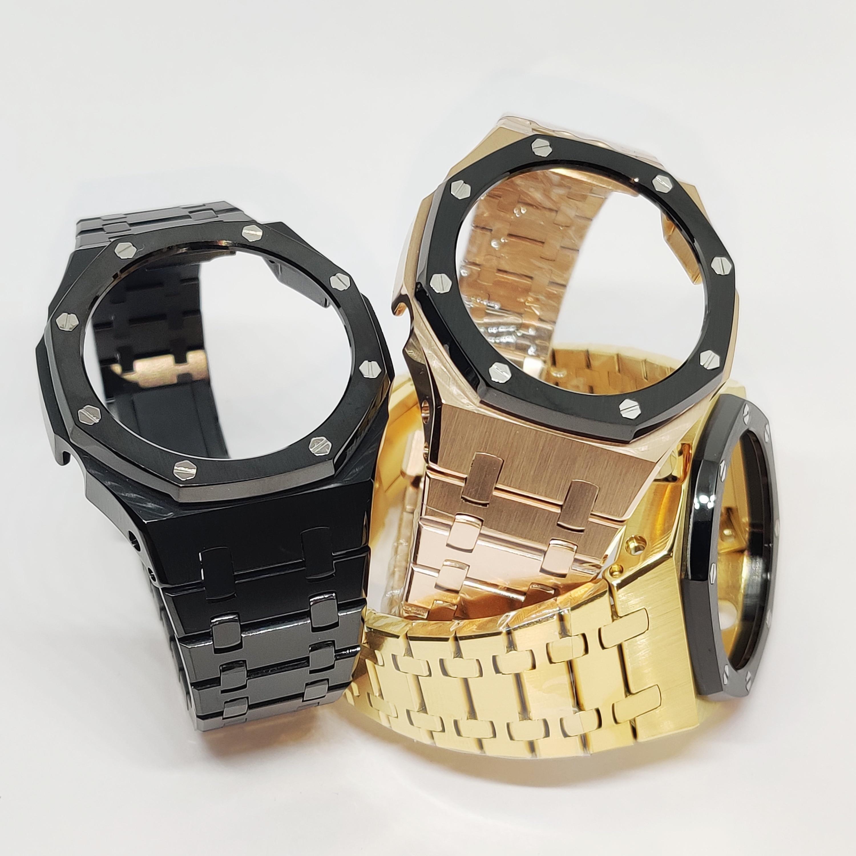 Hontao GA2100 3rd Generation Casioak Mod All Metal Watch Bezel Strap GA2110 Watch Band for GA2100/2110 Replacement Accessories enlarge