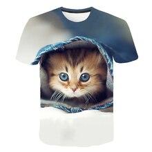 Nouveau chat drôle décontracté à manches courtes T-shirt pour les femmes Harajuku nouveau T-shirt dété Kawaii chats enfants T-shirt haut tendance t-shirts femme