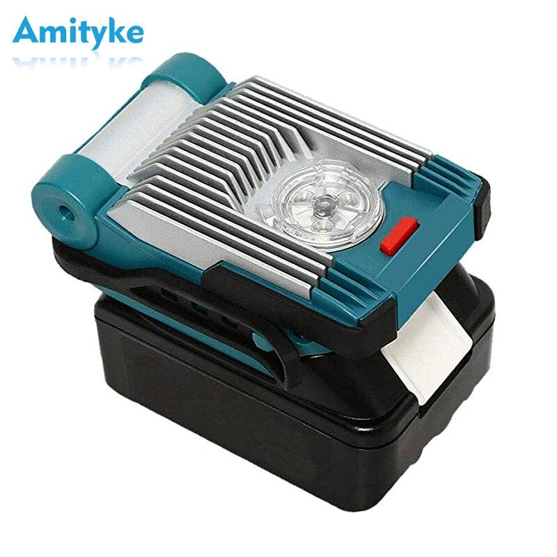 14.4 v/18 v 9 w conduziu o holofote portátil 6.0 ah bateria do li-íon 420lm conduziu a luz do trabalho para a lanterna exterior para baterias de makita lxt