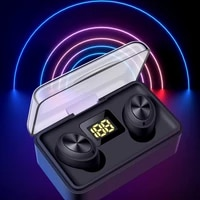 tws bluetooth v5 0 earphone wireless ear phones hd stereo headhet sports waterproof headsets with dual mic