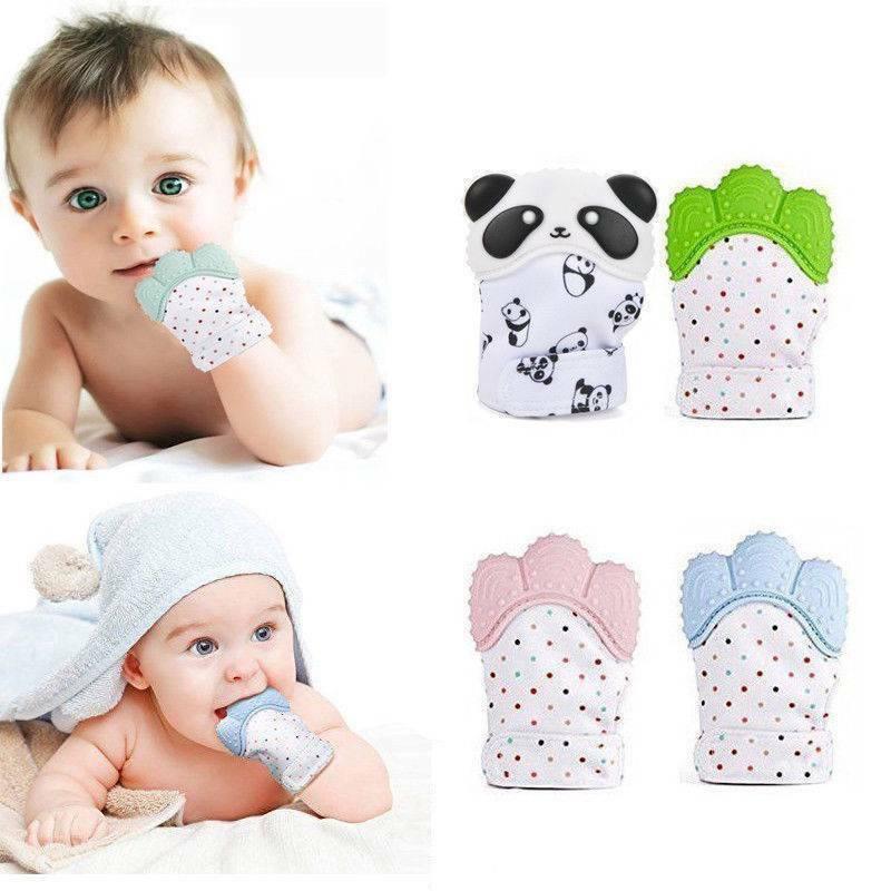 Безопасные силиконовые детские перчатки для новорожденных, варежки для детей и мальчиков, варежки для прорезывания зубов, варежки для прор...
