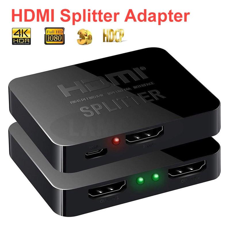 Multifunktionale 1 In 2 Out 2 Ports Repeater Splitter Hub HDMI Switch Box Für TV Computer HDMI Adapter Konverter Unterstützt 1080