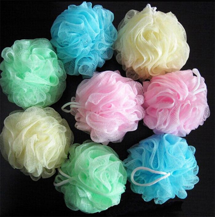 5PCS New Style Bath Ball With Exfoliating Sponge Loofah Flower Lace Ball Bath Towel Scrubber Body Cl