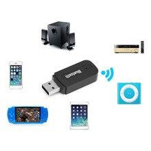 Adaptador USB Bluetooth para coche, receptor Bluetooth inalámbrico con clavija de 3,5mm, reproductor de música MP3 y Audio AUX, herramienta manos libres para coche