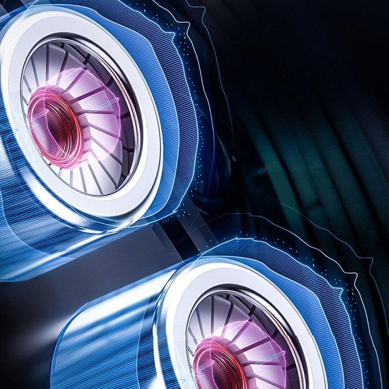 GAMO 3D Gaming Stereo Earphones With RGB Circular Light Effect In-Ear Tpye c Earphones Headset From Xiaomi Youpin enlarge