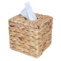 hand woven paper towel napkin dispenser square tissue box holder woven tissue box cover decoration for home office table