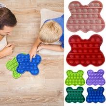 Kids Parent-child Interaction Toys Silicone Animals Push Bubble Fidget Sensory for Stress Relief Han