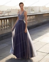 chic v neck womens evening gowns beaded a line party dress custom made backless formal dresses quinceanera dresse