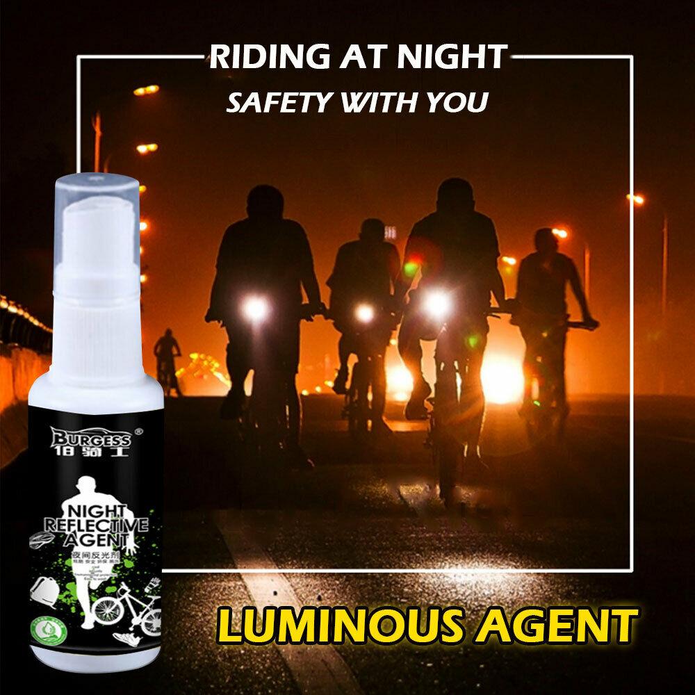 30ML noche reflectante Spray Running Bike fluorescencia pintura Anti accidente seguridad marca Navidad hogar DIY decoración DropShipping