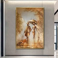 nordic abstract wonderful love art reproductions the romantic canvas paintings poster and print wall art picture for living room