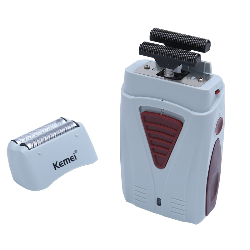 Kemei 3382 Barber Finish Electric Shaver for Men USB Cordless Rechargeable Beard Razor Reciprocating Foil Mesh Shaving Machine