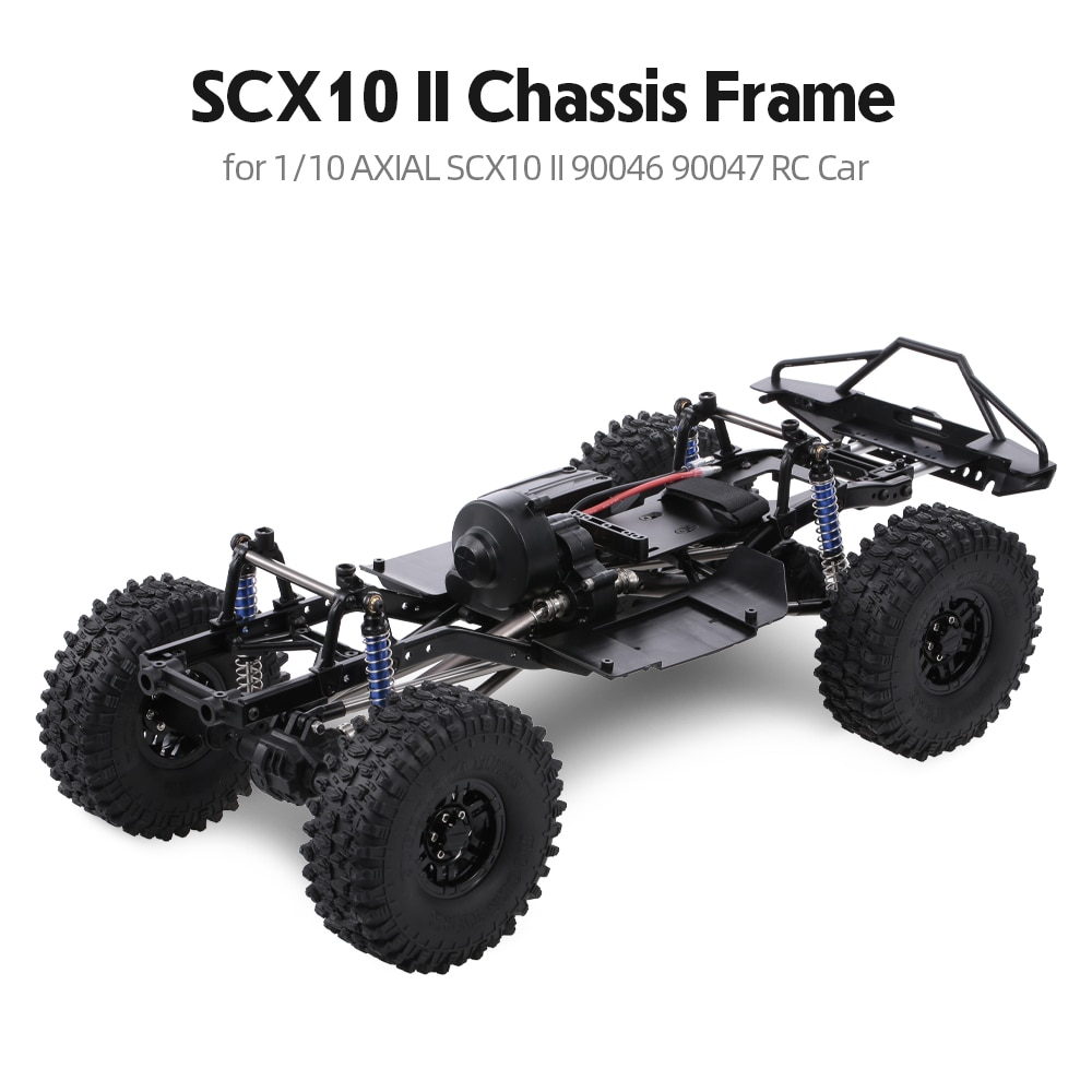 "313mm 12,3 ""distancia entre ejes montado juguete Marco de coche 313mm 12,3"" chasis para 1/10 coche trepador de control remoto SCX10 SCX10 II 90046, 90047"