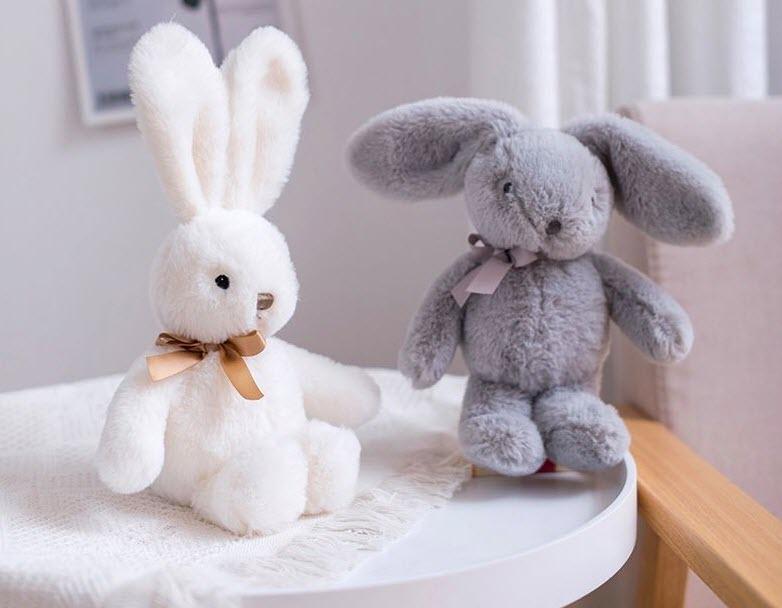 25cm Stuffed Soft Bunny Plush Toys Comfort Toy Rabbit Doll Sleep Toys Gift Bunny With Bow Tie Valentines Gift Decoration Dolls недорого
