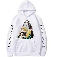 demon slayer hoodies anime cosplay kimetsu no yaiba pullovers kawaii sweatshirt men women loose oversized casual streetwear 2021