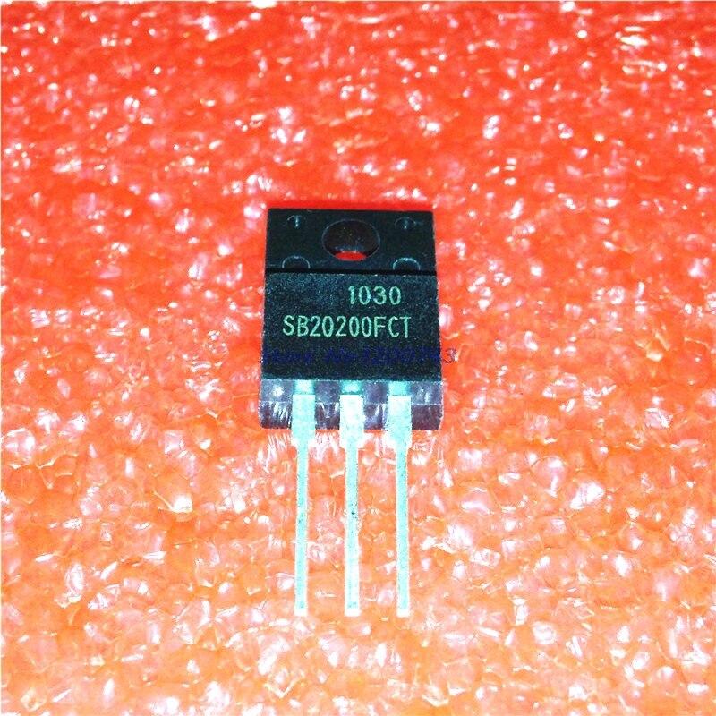 5 unids/lote SB20200FCT TO-220F SB20200-220 20200FCT TO220F Schottky cátodo común 20A 200V auténtico