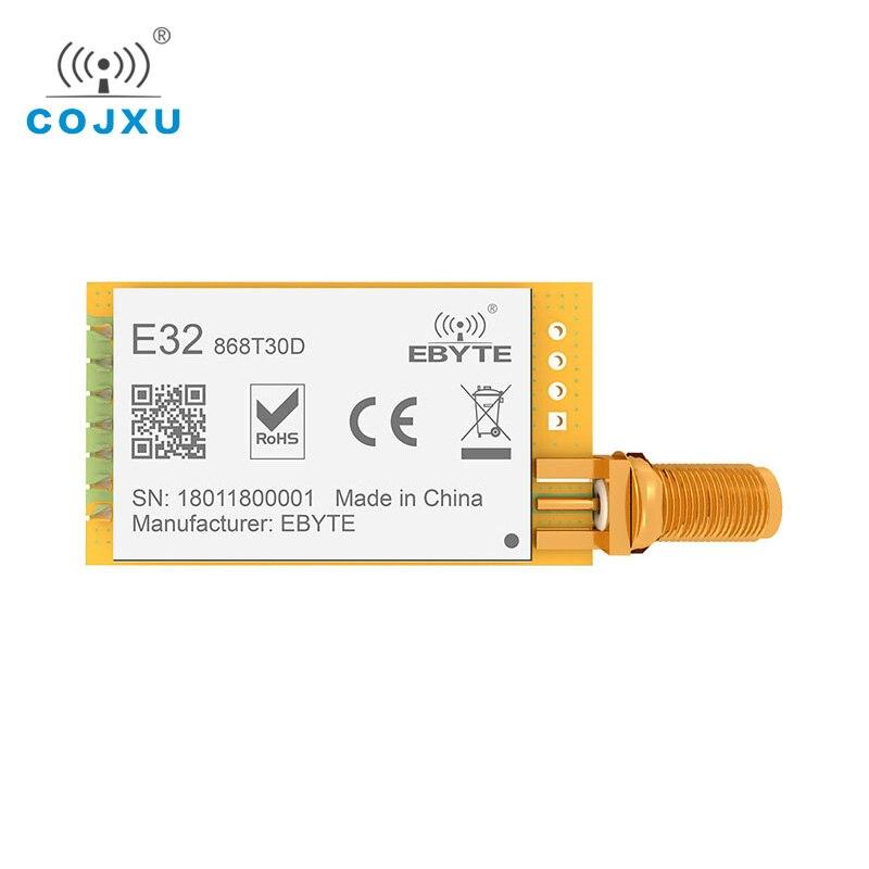 LoRa 868MHz SX1276 30dBm TCXO UART ebyte E32-868T30D largo alcance 8000m iot rf transmisor inalámbrico y receptor SMA-K antena