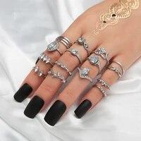 korea fashion bling stone rings set adjustable simple rhinestone finger rings for women anniversary ring 2020