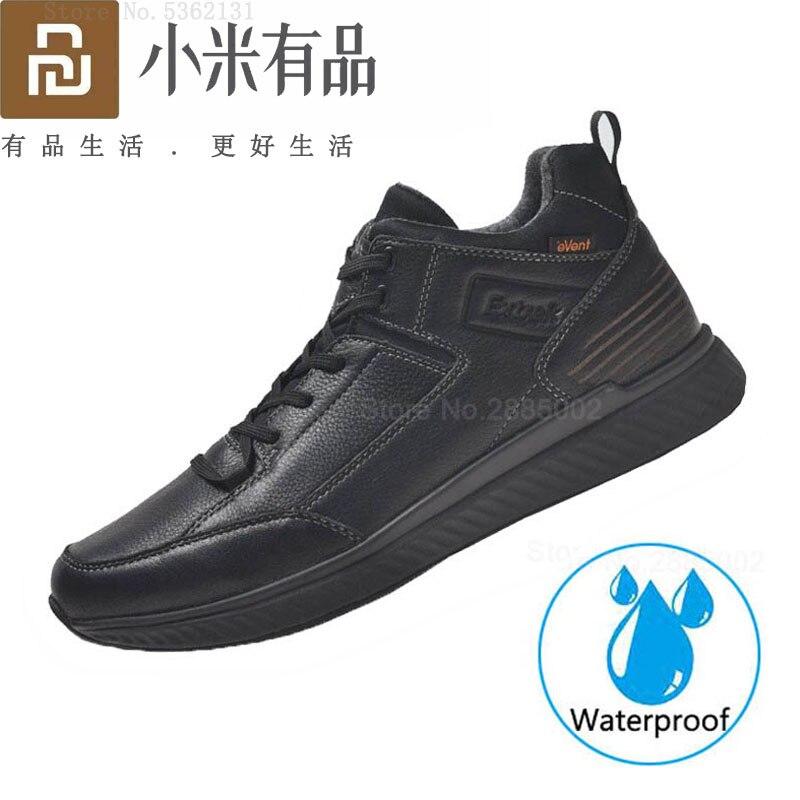 Youpin Extrek Urban Leisure zapatos impermeables al aire libre zapatos de cuero vacuno de alta calidad transpirable ligero acolchado cómodo