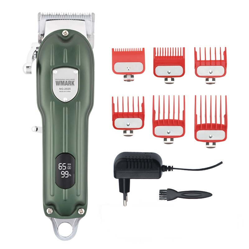 WMARK NG-2025 All-Metal Corded or Cordless Use Hair Clipper With LCD Display 2500mAh 6500 RPM 9CR18 Blade  hair clipper  barber enlarge