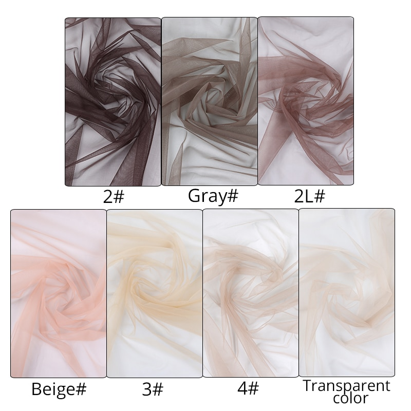 Plussign Lace Net For Making Wigs Swiss Lace Net Material For Making & Repair Wigs,Closures And Frontals 1/2 Yard 6 Colors enlarge