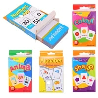 5 boxset montessori learning colors numbers animals letters in english literacy card children educational books for kids books