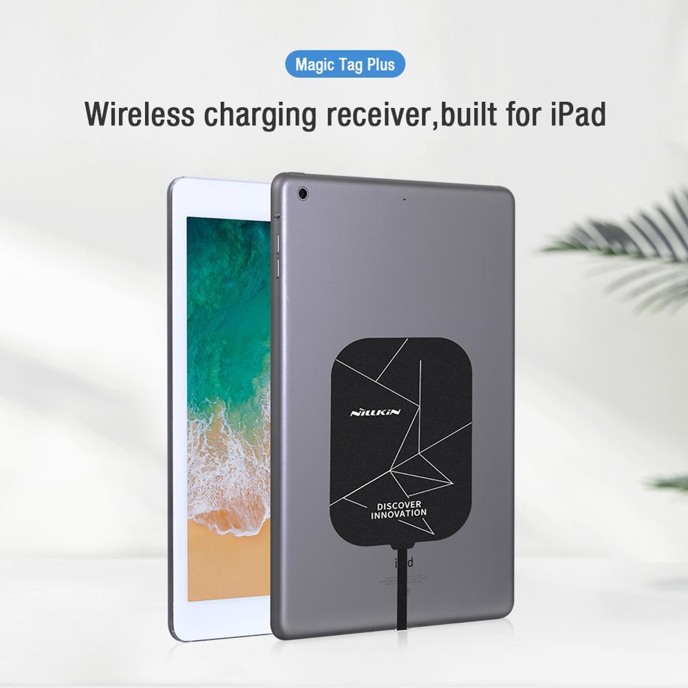 NILLKIN-كابل مستقبل الشحن اللاسلكي Magic Tag Plus ، محول شاحن لاسلكي نحيف للغاية لجهاز iPad Pro ، Samsung Tab S6 S7