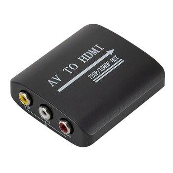 RCA To HDMI 1080P 720P Mini Composite CVBS AV Video Audio Converter Adapter