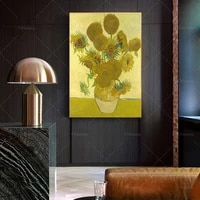 twelve sunflowers in a vase by vincent van gogh van gogh art print museum quality print gift idea wall art poster print
