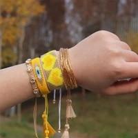 zhongvi trendy bracelet for women jewelry fashion miyuki bead handmade loom jewellery wholesale 2021 adjustable rope bracelets